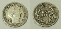 X559  1906-O BARBER DIME, VF DETAILS, COUNTING WHEEL DMG
