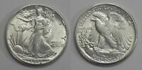X620  1945 LIBERTY WALKING HALF DOLLAR 50C, BU, MISSING DESIGNER INITIALS FS-901