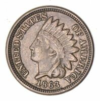 1863 INDIAN HEAD CENT - CIRCULATED 8041