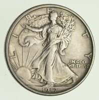 1917-S WALKING LIBERTY HALF DOLLAR - CRISP 9714