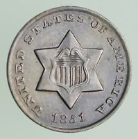 1851 SILVER THREE-CENT PIECE - CIRCULATED 7204