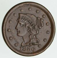 1856 BRAIDED HAIR LARGE CENT - CIRCULATED 6155