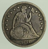 1841 SEATED LIBERTY SILVER DOLLAR - CIRCULATED 9279