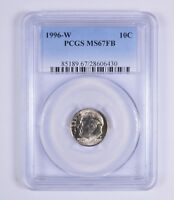 MINT STATE 67FB 1996-W ROOSEVELT DIME - PCGS GRADED 9409