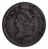 1814 CLASSIC HEAD LARGE CENT - CIRCULATED 1465