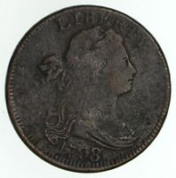 1798/7 DRAPED BUST LARGE CENT - CIRCULATED 4678