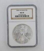 MS70 2006-W AMERICAN SILVER EAGLE - NGC GRADED 8353