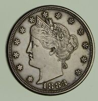 1883 LIBERTY V NICKEL - WITH CENTS - CIRCULATED 9076