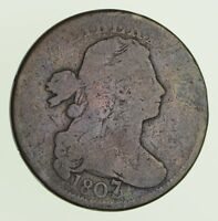 1807/6 DRAPED BUST LARGE CENT - CIRCULATED 9724