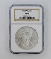 MINT STATE 69 1996 AMERICAN SILVER EAGLE - NGC GRADED 8341