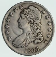 1833 CAPPED BUST HALF DOLLAR - CIRCULATED 3568
