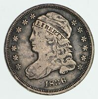 1836 CAPPED BUST DIME - CIRCULATED 3610