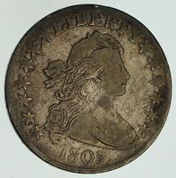 1805 DRAPED BUST HALF DOLLAR - CIRCULATED 4591