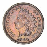 1864 INDIAN HEAD CENT - L ON RIBBON 8062