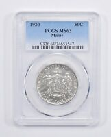 MINT STATE 63 1920 MAINE CENTENNIAL COMMEMORATIVE HALF DOLLAR - PCGS GRADED 7654