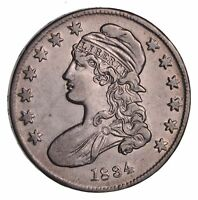 1834 CAPPED BUST HALF DOLLAR - CIRCULATED 1500