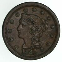 1845 BRAIDED HAIR LARGE CENT - CIRCULATED 4673