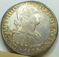 MEXICO 8 REALES 1805 MO TH EXTREMELY FINE