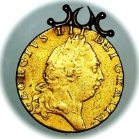 1791 KING GEORGE III GREAT BRITAIN GOLD GUINEA COIN