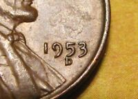 1953D MISPLACED MINTMARK ERROR WHEAT PENNY HIGH GRADE COLLECTABLE LINCOLN CENT