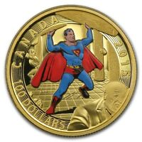 2015 ROYAL CANADIAN MINT $100 14K GOLD SUPERMAN 4 COVER COMM