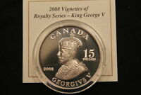 2008 VIGNETTES OF ROYALTY   GEORGE V   ULTRA HIGH RELIEF PROOF COIN W COA