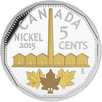 2015 CANADA LEGACY OF CANADIAN NICKEL 4 $20 PURE SILVER W GOLD PROOF. NO TAX