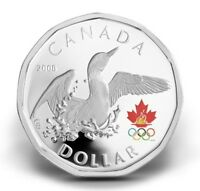 2008 CANADA SILVER COLORIZED LUCKY LOONIE $1 VANCOUVER OLYMPIC GAMES CASE & COA