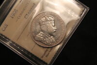 1908 CANADA SILVER 50 CENTS. ICCS VF 30 CLEANED. OLD 2 LETTER CERT QX 674.