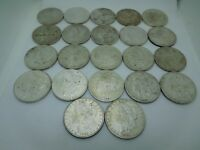 ROLL OF 22 US SILVER MORGAN DOLLARS CLEANED