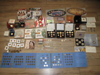 HUGE CANADA COIN COLLECTION LOT  SILVER DOLLARS RCM SETS & M