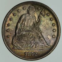 1872 SEATED LIBERTY SILVER DOLLAR - NEAR UNCIRCULATED 4653