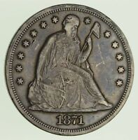 1871 SEATED LIBERTY SILVER DOLLAR - CIRCULATED 1817