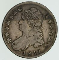 1811 CAPPED BUST HALF DOLLAR - CIRCULATED SMALL 8 4586