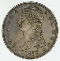 1839 CAPPED BUST HALF DOLLAR - NEAR UNCIRCULATED 4654