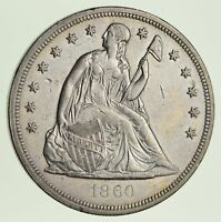 1860-O SEATED LIBERTY SILVER DOLLAR - CIRCULATED 1816