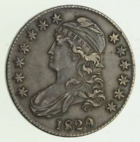 1829 CAPPED BUST HALF DOLLAR - CIRCULATED 1349