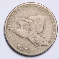 1857 FLYING EAGLE SMALL CENT CHOICE VG SHIPS FREE E156 RCM