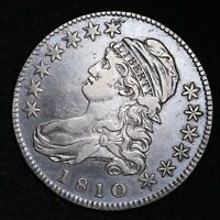 1810 CAPPED BUST HALF DOLLAR CHOICE VF/EXTRA FINE  SHIPS FREE E242 KCMT