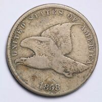 1858 S.L. FLYING EAGLE SMALL CENT CHOICE FINE SHIPS FREE E157 ACF