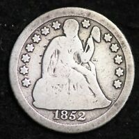 1852-O SEATED LIBERTY DIME CHOICE G SHIPS FREE E283 GNT