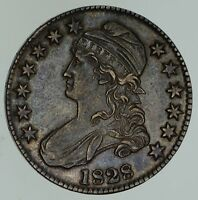 1828 CAPPED BUST HALF DOLLAR - CIRCULATED 4651