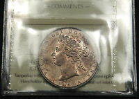 1881 H CANADA SILVER 50 CENT AU 55 ICCS   HIGH END QUEEN VICTORIA  COIN