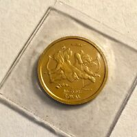 GIBRALTAR 2002 GOLD ROYAL CHERUB ANGELS 1/10 OZ. PROOF IN ORIG. SEALED PLASTIC