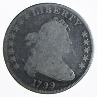 1799 DRAPED BUST SILVER DOLLAR - EARLY AMERICAN TYPE COIN 0001