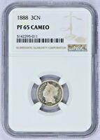 1888 3C NICKEL NGC PROOF 65 CAMEO HIGH END HANDSOME