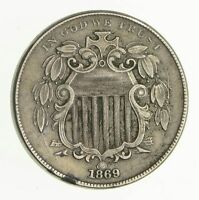 1869 SHIELD NICKEL - WITHOUT RAYS - CIRCULATED 2973