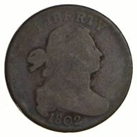 1802 DRAPED BUST LARGE CENT - CIRCULATED 2583