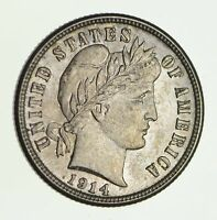 1914-S BARBER DIME - CIRCULATED 2499
