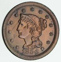 1856 BRAIDED HAIR LARGE CENT - NOT CIRCULATED 6153